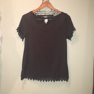 Hunter green laced blouse!